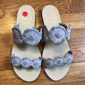 Jack Rogers grey suede Lauren double strap sandal